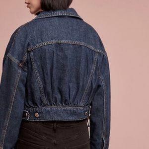 Pilcro Cropped Denim Jacket